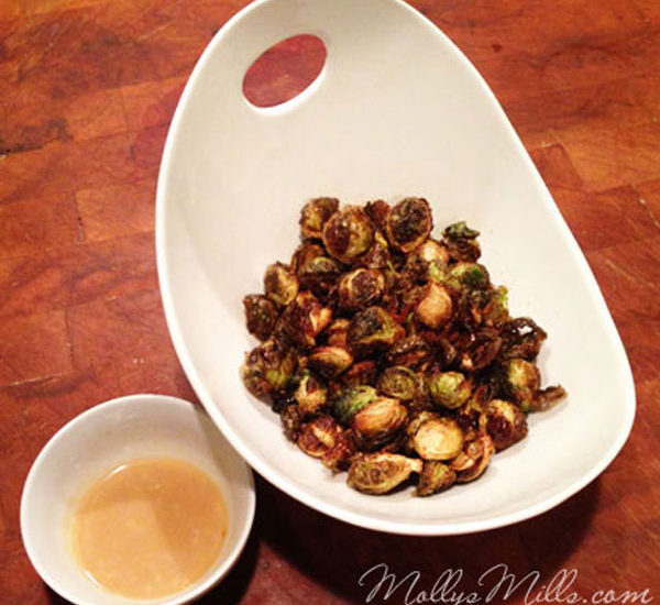 Fried Brussels Sprouts with Maple Aioli