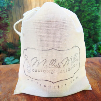 Each Molly's Mills Wood & Glass Grinder Comes Wrapped in a Free Gift Bag