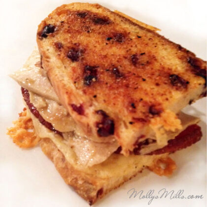 MollysMills.com Grilled Cheese with Turkey