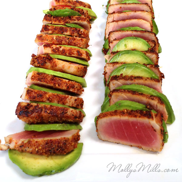 Togarashi Ahi Tuna with Avocado
