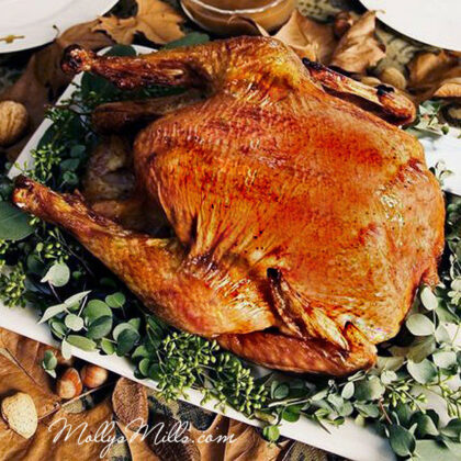 Spicy Garlic & Rum Glazed Turkey | MollysMills.com