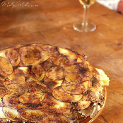 Cheesy Scalloped Potatoes | MollysMills.com