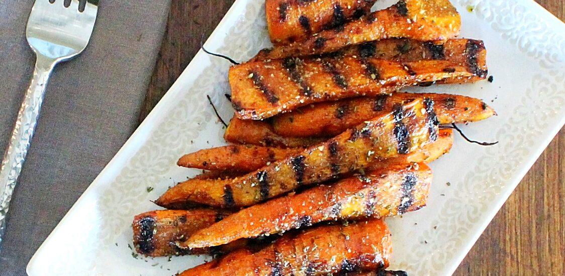 Balsamic Honey Grilled Carrots