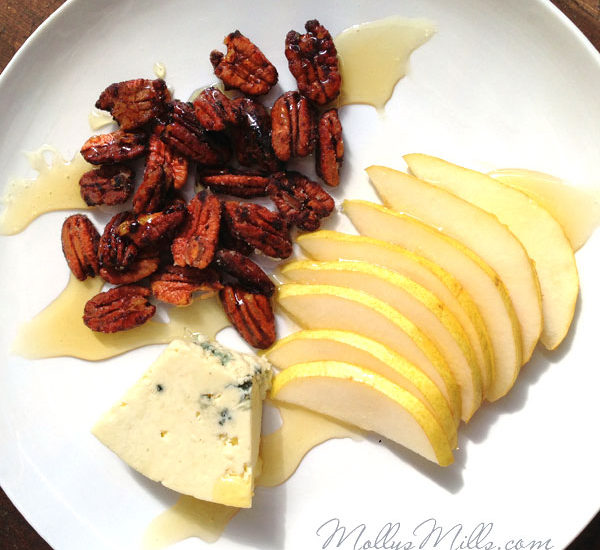 Spicy Candied Pecans & Cheese Plate