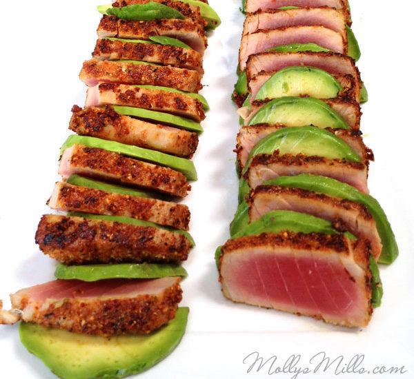Togarashi Ahi Tuna with Avocado