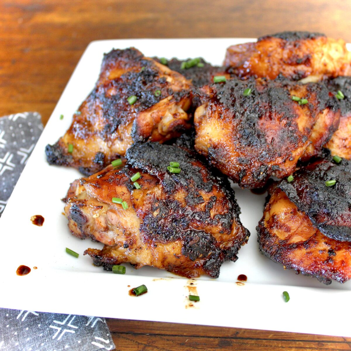 Grilled Spicy Chicken Thighs