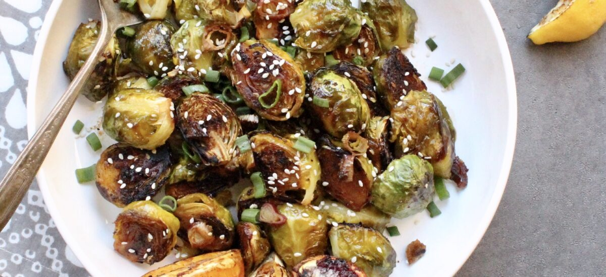 Citrus Glazed Roasted Brussel Sprouts